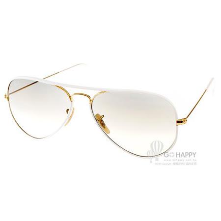 RayBan 太陽眼鏡 熱銷經典限量款(白-金) #RB3025JM 14632