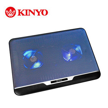 KINYO超薄雙風扇筆電散熱墊NCP-13