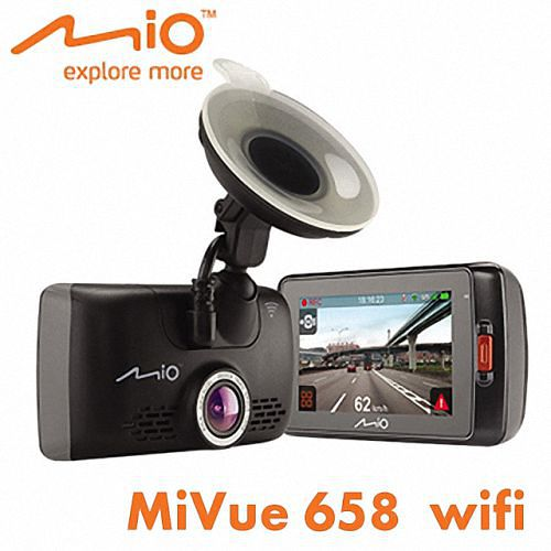 Mio MiVue? 658 WIFI 觸控螢幕GPS行車記錄器 【加碼送16G記憶卡+後視鏡車架+讀卡機+三孔便宜行車紀錄器擴充器】