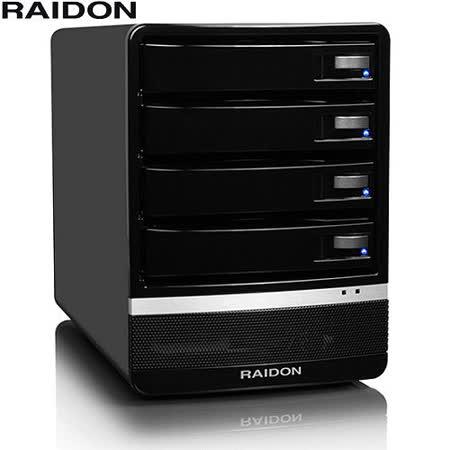 RAIDON 3.5吋USB3.0/eSATA/4bay磁碟陣列設備-GR5630-SB3