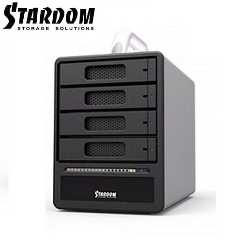 STARDOM 3.5吋2.5吋USB3.0eSATA4bay硬碟外接盒-ST4~SB3