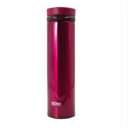 THERMOS膳魔師 超輕量不鏽鋼真空保溫杯0.35L 酒紅色 (JNO-350)