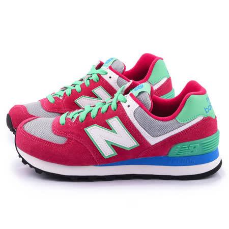 New Balance 女款 麂皮復古運動鞋WL574CPV-桃
