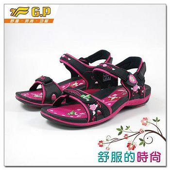 G.P 時尚精美高雅涼鞋 G9164W-15-黑桃色