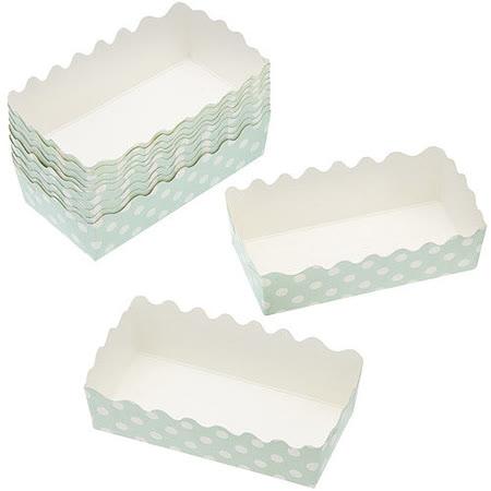 《Sweetly》9.5cm磅蛋糕紙模12入(綠點)