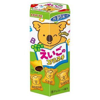 樂天小熊餅乾英文小熊-巧克力口味48g