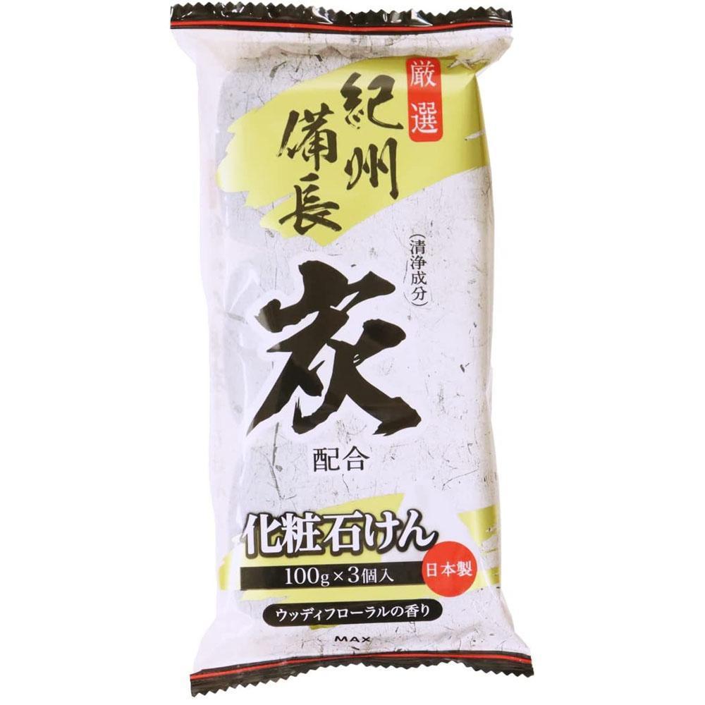 日本MAX竹炭香皂135g*3入