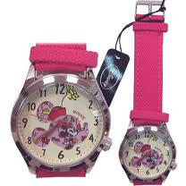 【波克貓哈日網】迪士尼系列◇造型手錶腕錶◇《布面桃紅錶帶》米妮