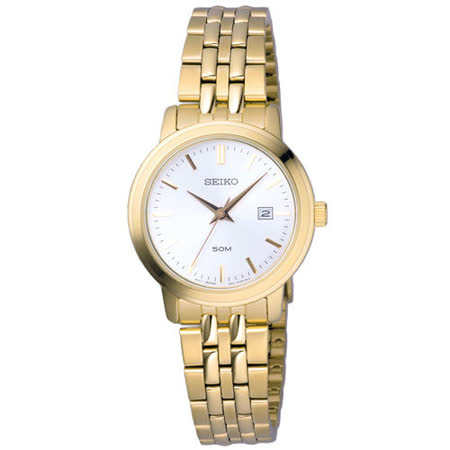 SEIKO  復刻華麗日期都會腕錶-金