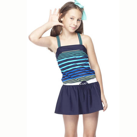 【SAIN SOU】少女兩件式泳裝附泳帽A82413