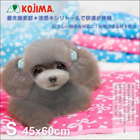 日本KOJIMA《蝴蝶結印花涼感降溫寵物墊S號》