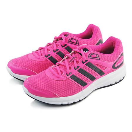 (女)ADIDAS DURAMO 6 W 慢跑鞋 螢光桃紅/黑-B39764