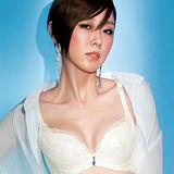 【Audrey】輕涼V弧蝶 大罩杯B-E罩內衣(晶瑩白)