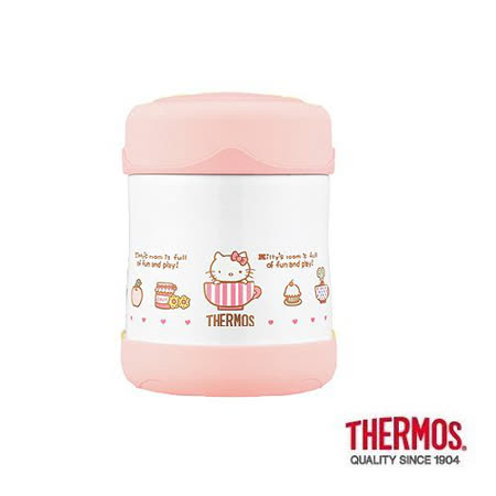 THERMOS膳魔師 不鏽鋼真空保溫食物罐0.3L KITTY限定版(B3001PK)