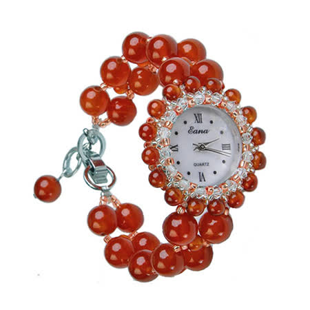 開運天然水晶錶-獨領風華(紅瑪瑙)