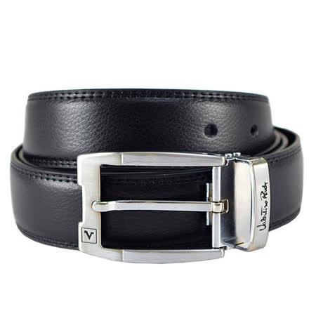 Valentino Rudy 鏤空針扣牛皮紳士皮帶EV6917黑色