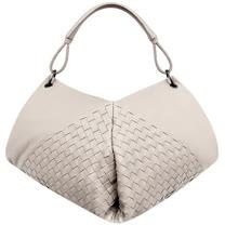 BOTTEGA VENETA 編織小羊皮肩背包(卡其色)