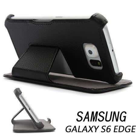 三星 Samsung GALAXY S6 edge G9250/ SM-G9250 專用側掀式可斜立筆記本皮套 保護套