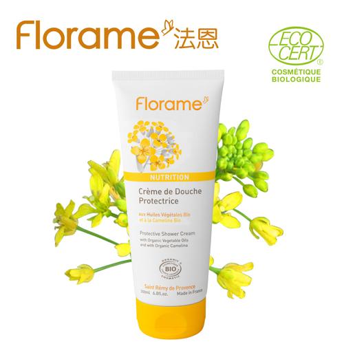~Florame法恩~亞麻薺保濕修護沐浴乳200ml