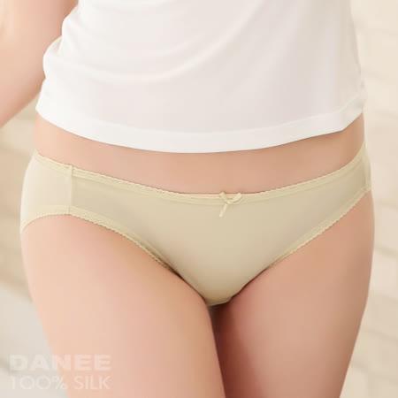 【岱妮蠶絲】LA0231E純蠶絲42針70G單蝴蝶結低腰三角內褲(秋香綠)