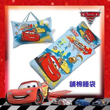 【迪士尼CARS】閃電麥坤外出篇舖棉冬夏二用幼教兒童睡袋