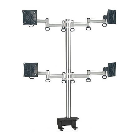 FOGIM 夾桌懸臂式液晶螢幕支架(四螢幕)-TKLA-6034-SM