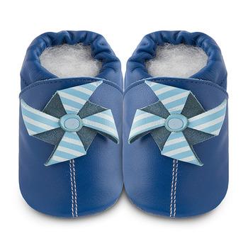 英國 shooshoos 安全無毒真皮手工鞋/學步鞋/嬰兒鞋_遊樂園風車(公司貨)