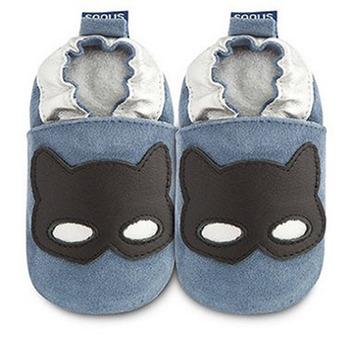英國 shooshoos 安全無毒真皮手工鞋/學步鞋/嬰兒鞋_海軍藍蒙面俠(公司貨)