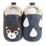 英國 shooshoos 安全無毒真皮手工鞋/學步鞋/嬰兒鞋_海軍藍馴鹿(公司貨)
