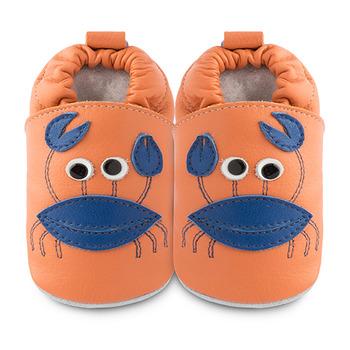 英國 shooshoos 安全無毒真皮手工鞋/學步鞋/嬰兒鞋_螃蟹先生(公司貨)