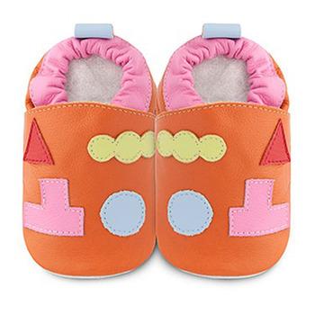 英國 shooshoos 安全無毒真皮手工鞋/學步鞋/嬰兒鞋_幾何積木 (公司貨)