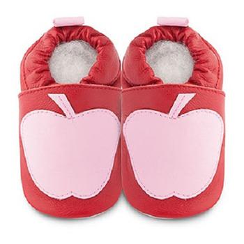 英國 shooshoos 安全無毒真皮手工鞋/學步鞋/嬰兒鞋_粉紅蘋果(公司貨)