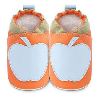 英國 shooshoos 安全無毒真皮手工鞋/學步鞋/嬰兒鞋_天空藍蘋果(公司貨)