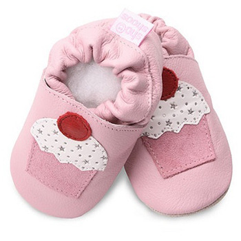 英國 shooshoos 安全無毒真皮手工鞋/學步鞋/嬰兒鞋_淡粉/杯子蛋糕(公司貨)