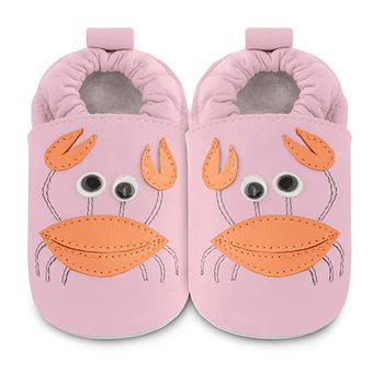英國 shooshoos 安全無毒真皮手工鞋/學步鞋/嬰兒鞋_螃蟹小姐(公司貨)