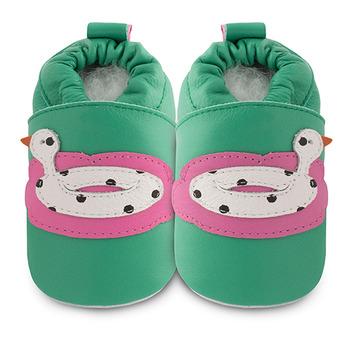 英國 shooshoos 安全無毒真皮手工鞋/學步鞋/嬰兒鞋_鴨子橡膠泳圈(公司貨)