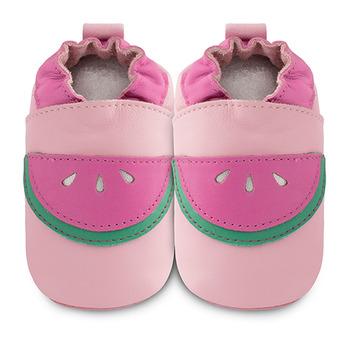 英國 shooshoos 安全無毒真皮手工鞋/學步鞋/嬰兒鞋_粉紅西瓜(公司貨)