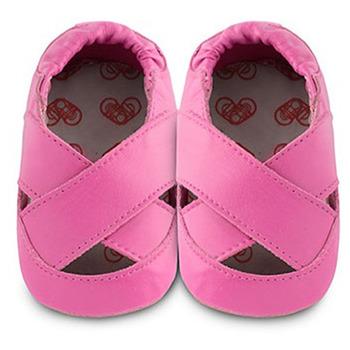 英國 shooshoos 安全無毒真皮手工鞋/學步鞋/嬰兒鞋_桃紅芭蕾舞鞋(公司貨)