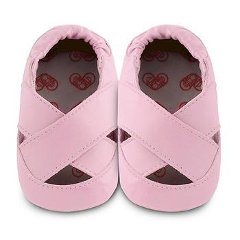 英國 shooshoos 安全無毒真皮手工鞋/學步鞋/嬰兒鞋_淡粉芭蕾舞鞋(公司貨)