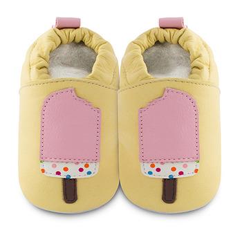 英國 shooshoos 安全無毒真皮手工鞋/學步鞋/嬰兒鞋_粉紅冰棒(公司貨)