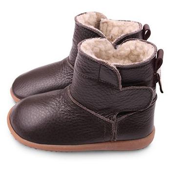 英國 shooshoos 健康無毒真皮手工學步鞋/童鞋_咖啡真皮靴(公司貨)