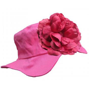 美國Jamie Rae 100%純棉帽_覆盆子遮陽帽+覆盆子玫瑰 (JRSHRR03)