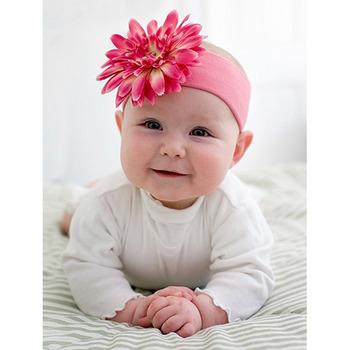 美國Jamie Rae 100%純棉髮帶_糖果粉寬髮帶+甜蜜糖果粉雛菊 (JRHBD01)