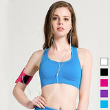 【Olivia】蜂窩式無鋼圈吸汗防震運動舒適內衣(藍色)
