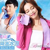 【美麗焦點】台灣製防曬降溫冰涼巾(6316)-84x16.5cm