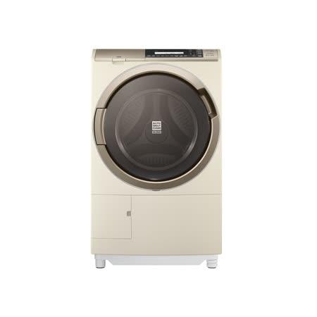 日立 HITACHI 日本原裝 11.5KG 熱氣噴霧尼加拉飛瀑滾筒式洗脫烘 洗衣機 SFSD3100W(N)香檳金