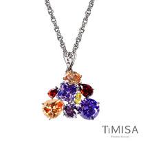 【TiMISA】絢麗典藏-崇拜(紫橘) 純鈦項鍊(SB)