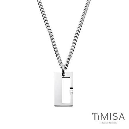 【TiMISA】扣住幸福-大 純鈦鍺項鍊(M02D)