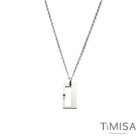 【TiMISA】扣住幸福-小 純鈦項鍊(C)