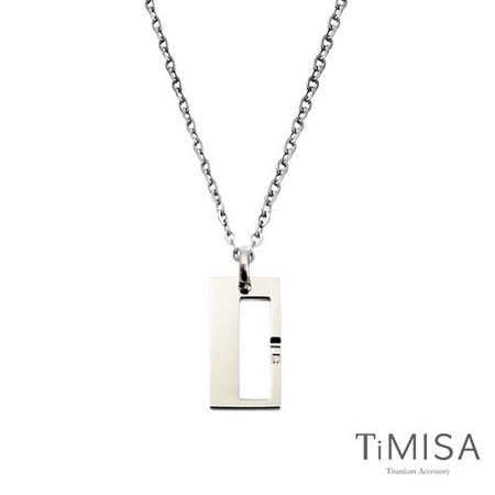 【TiMISA】扣住幸福-大 純鈦項鍊(F)
